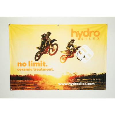 HydroSilex Banner, Yellow - HydroSilex Ceramic Coatings