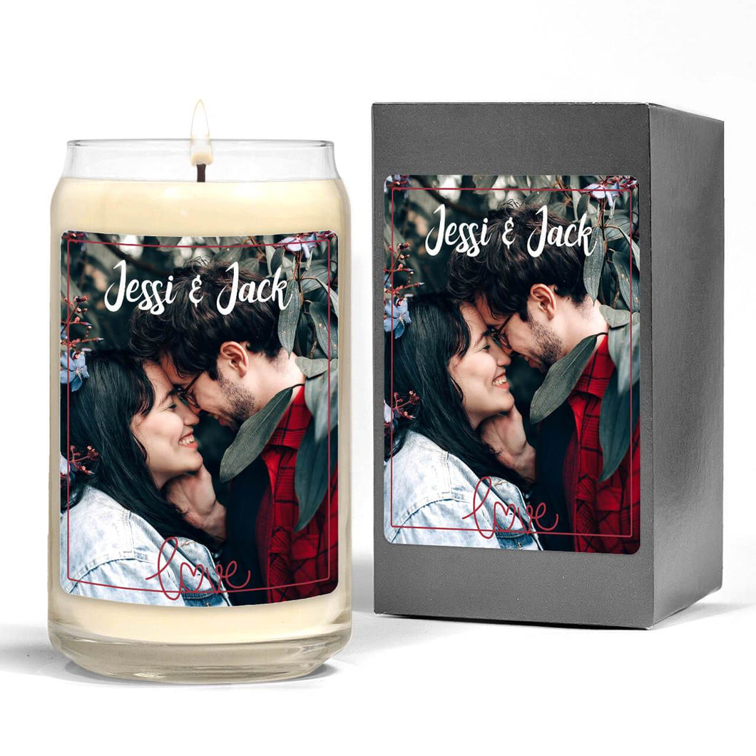 Custom Scented Candle - Valentines Frames Edition - TealGifts.com