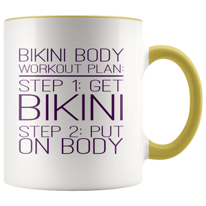 Bikini Body Workout Plan 11oz Mug - TealGifts.com