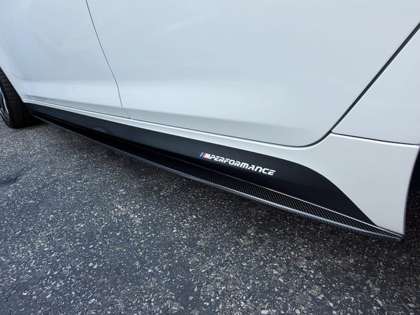 F30/F32 Performance Style Carbon Side Skirt Extensions