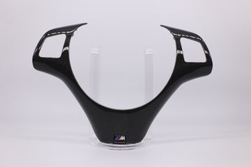 Carbon fiber steering wheel trim cover
