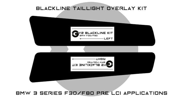 Goldenwrench F30/F80 PRE LCI BLACKLINE Taillight Overlay Kit