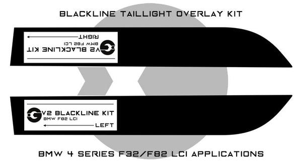 Goldenwrench F32/F82 LCI BLACKLINE Taillight Overlay Kit