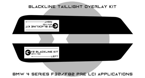 Goldenwrench F32/F82 PRE LCI BLACKLINE Taillight Overlay Kit