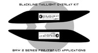 BMW F22/F87 LCI BLACKLINE Taillight Overlay Kit