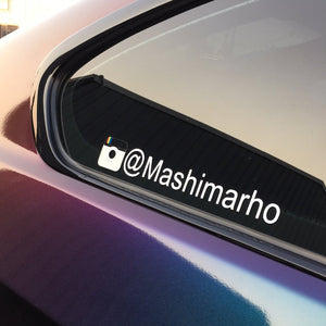 Instagram/Hashtag Decal