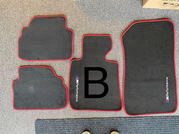 E9X Colored Floor mats