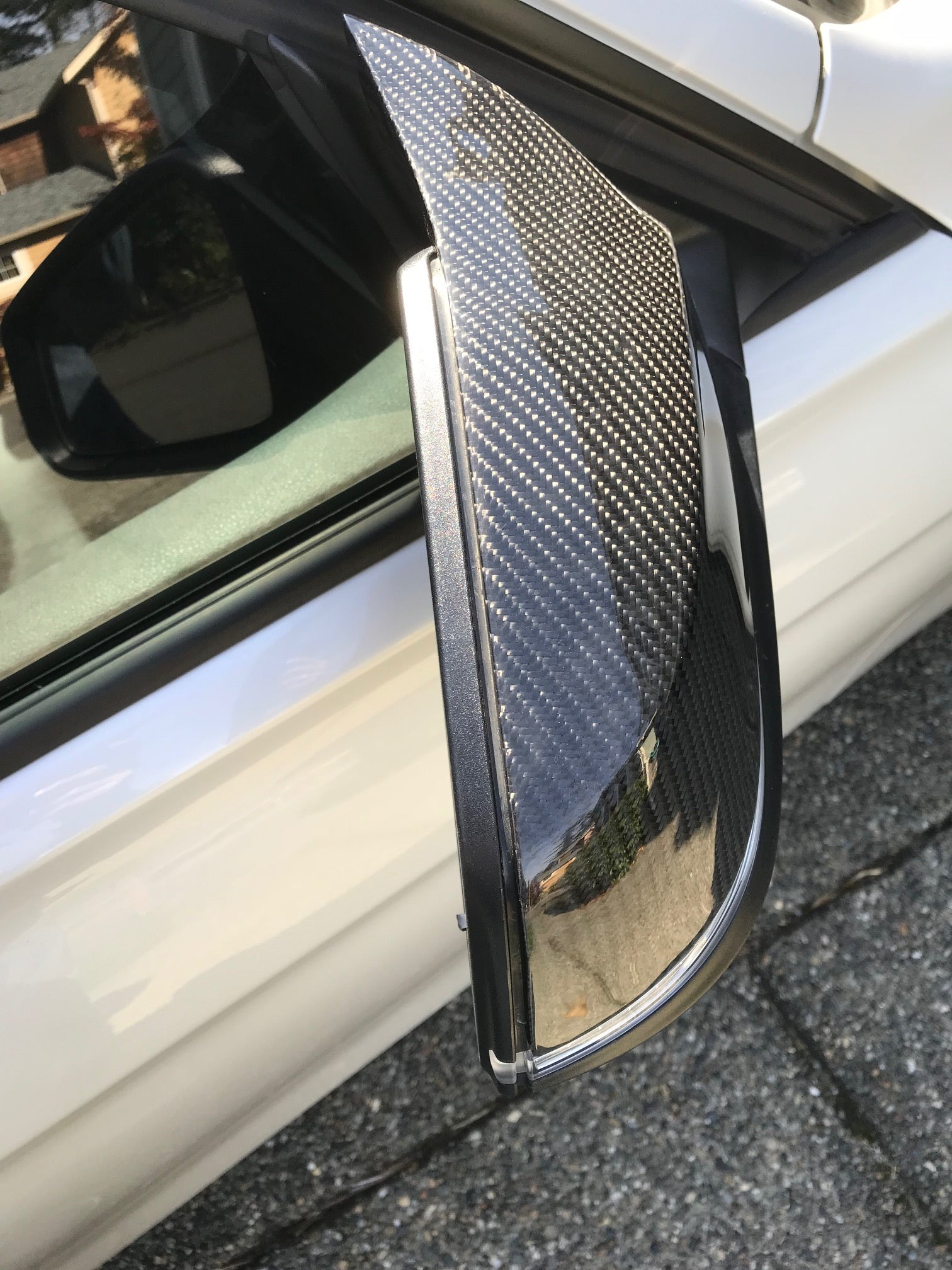 Carbon fiber M style mirror caps - F series