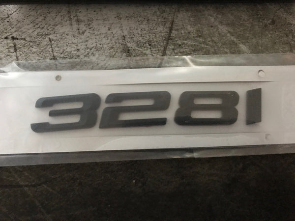 Gloss Black emblem badges