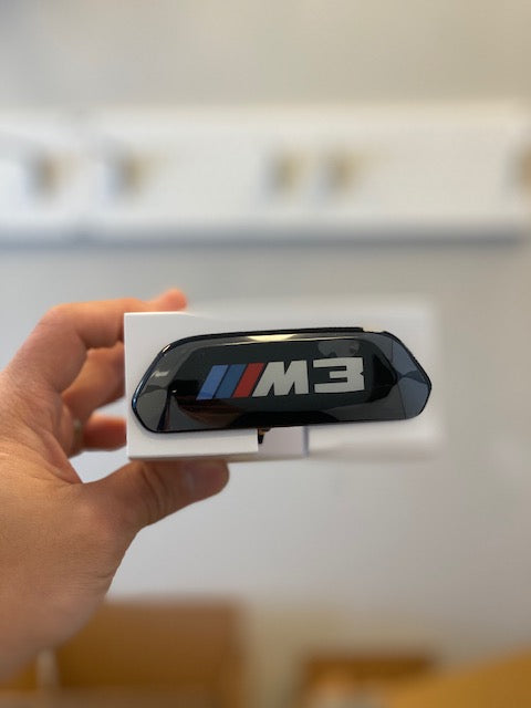 F8X M3 M4 OEM black seat badge