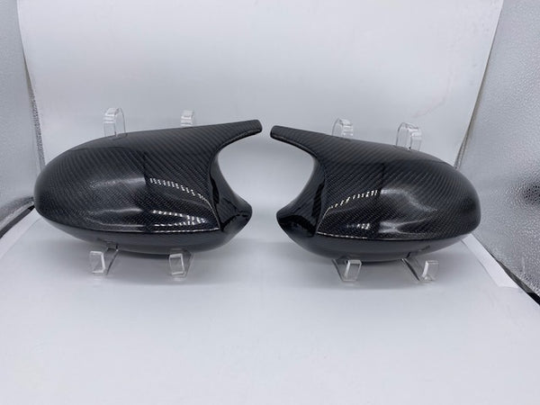 *NEW* Carbon fiber winged mirror caps - E chassis