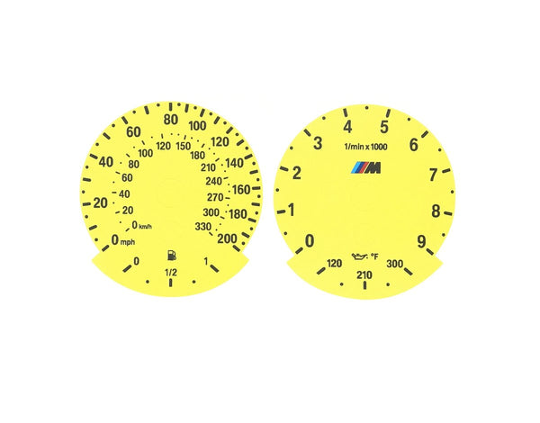 Colored Gauge Face Replacements