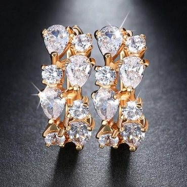 Charming Clear Zirconia Earrings