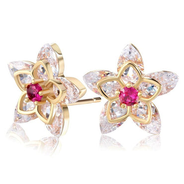 Cute Flower Crystal Earrings