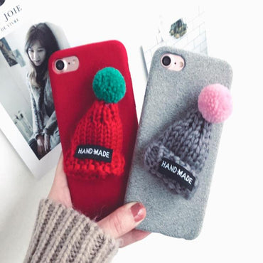 Holiday - Fur Ball Case For iPhone 5 to iPhone 7