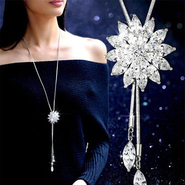 Snowflake Long Necklace