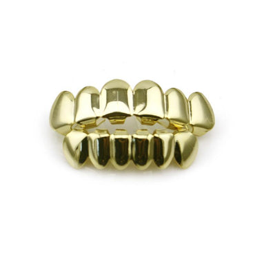 Classic Hip-Hop Gold Finish Grills Set