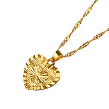 Romantic Gold Heart Necklace