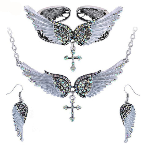 Cross Wing Angel Jewelry Gift Set