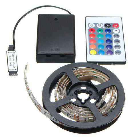 RGB 5050 LED Battery Powered Light Strip with Remote Control