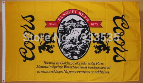Coors Banquet Beer Flag