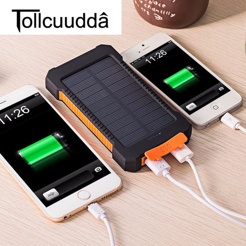 Tollcuudda Waterproof 10000Mah Solar Power Bank