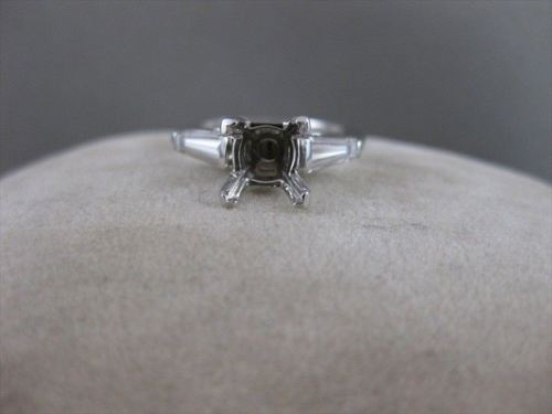 ANTIQUE .40CT DIAMOND SOLITAIRE 14KT W GOLD ENGAGEMENT SEMI MOUNT RING #19967