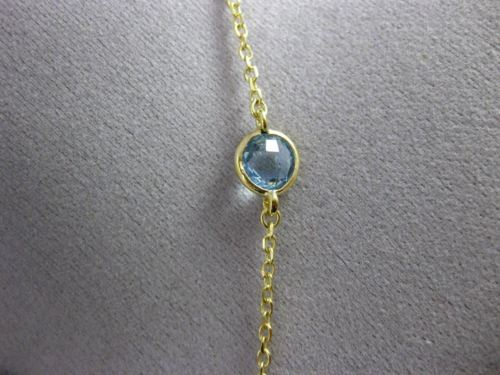 ESTATE 5.03CT DIAMOND & BLUE TOPAZ 14KT WHITE & YELLOW GOLD DROP LARIAT NECKLACE