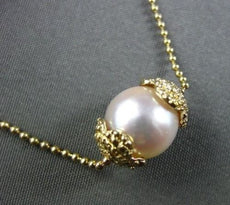 ESTATE SINGLE 8MM AAA SOUTH SEA PEARL 14KT YELLOW GOLD NECKLACE BEAUTIFUL #22158