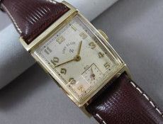 ANTIQUE 14KT YELLOW GOLD LORD ELGIN SQUARE MENS WATCH ABSOLUTELY AMAZING! #21575