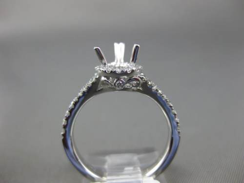 .39CT DIAMOND 18K WHITE GOLD SEMI ETERNITY PEAR SHAPE SEMI MOUNT ENGAGEMENT RING