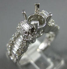 ESTATE 5.52CT DIAMOND 18KT WHITE GOLD CLASSIC 4 PRONG SEMI MOUNT ENGAGEMENT RING