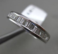 ESTATE .62CT BAGUETTE DIAMOND 18KT WHITE GOLD SEMI ETERNITY ANNIVERSARY RING 4mm