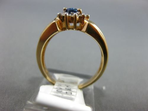 .72CT DIAMOND & AAA SAPPHIRE 14KT 2 TONE GOLD 3D TEAR DROP HALO ENGAGEMENT RING