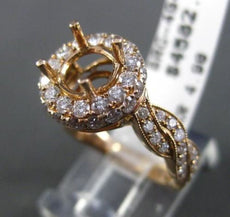 ESTATE 1.09CT DIAMOND 18KT ROSE GOLD 3D HALO INFINITY SEMI MOUNT ENGAGEMENT RING