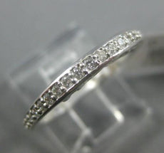 ESTATE .21CT DIAMOND 14KT WHITE GOLD 3D SEMI ETERNITY WEDDING ANNIVERSARY RING