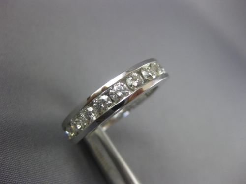 2.20CT ROUND DIAMOND 14K WHITE GOLD 3D CHANNEL ETERNITY WEDDING ANNIVERSARY RING