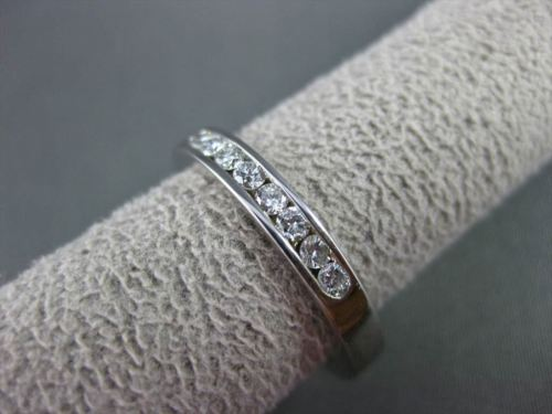 ESTATE WIDE .35CT DIAMOND 14KT WHITE GOLD 8 STONE CHANNEL ANNIVERSARY RING 22943