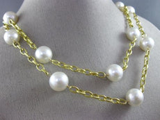 ESTATE LARGE & EXTRA LONG AAA SOUTH SEA PEARL 14KT YELLOW GOLD TIN TOP NECKLACE