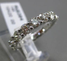 ESTATE 2.69CT DIAMOND 14KT WHITE GOLD SHARED PRONG CLASSIC ETERNITY WEDDING RING