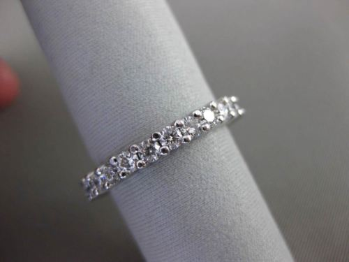 ESTATE 1.20CT DIAMOND 14K WHITE GOLD ETERNITY WEDDING ANNIVERSARY RING 2mm 22085