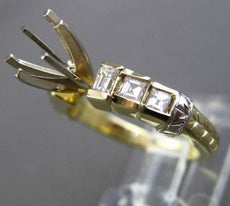 ESTATE .70CT DIAMOND 14KT WHITE & YELLOW GOLD SEMI MOUNT ENGAGEMENT RING #4953