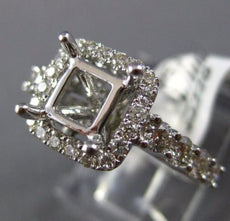 ESTATE 1.05CT DIAMOND 14KT WHITE GOLD SQUARE FILIGREE SEMI MOUNT ENGAGEMENT RING