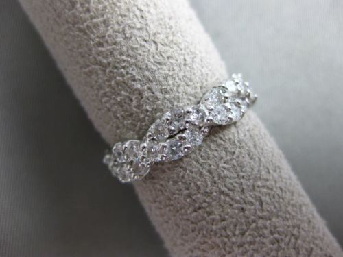 ESTATE 1.0CT DIAMOND 14KT WHITE GOLD INFINITY LOVE KNOT WEDDING ANNIVERSARY RING