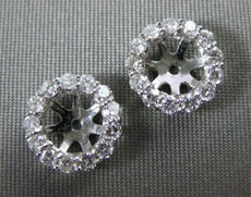 ESTATE .50CT DIAMOND 14KT WHITE GOLD CLASSIC HALO SHARE PRONG JACKET EARRINGS