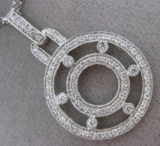 ESTATE LARGE 2.74CT DIAMOND 18KT WHITE GOLD 3D ETOILE BY THE YARD NECKLACE