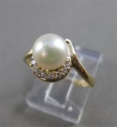 ESTATE DIAMOND 7MM SOUTH SEA PEARL 14KT YELLOW GOLD CLUSTER COCKTAIL RING #2194