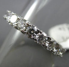 ESTATE 3.55CT DIAMOND 14KT WHITE GOLD 3D ETERNITY WEDDING ANNIVERSARY RING #2705