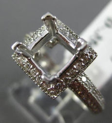 ESTATE .35CT DIAMOND 14K WHITE GOLD SQUARE HALO SEMI MOUNT ENGAGEMENT RING #2870