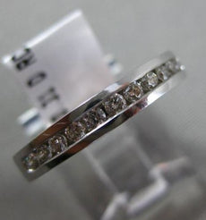ESTATE .31CT DIAMOND 18KT WHITE GOLD 3D SEMI ETERNITY WEDDING ANNIVERSARY RING